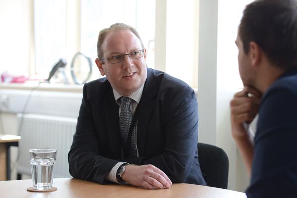 Ben Thompson talks to reporter John Dickens