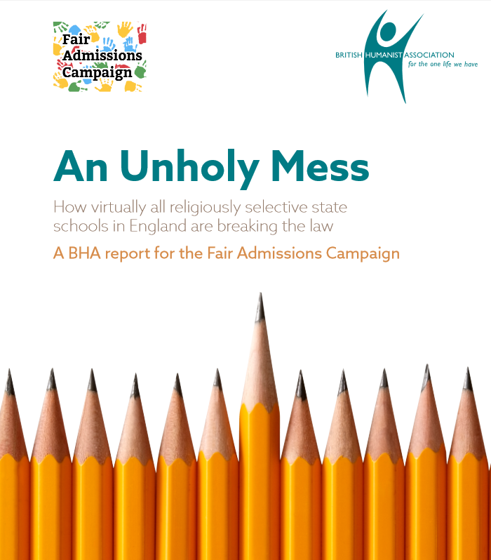 "Report reveals ""widespread violations"" of admissions code in faith schools"