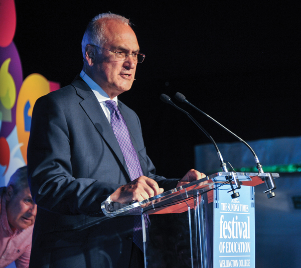 Wilshaw speaking at the Festival of Education