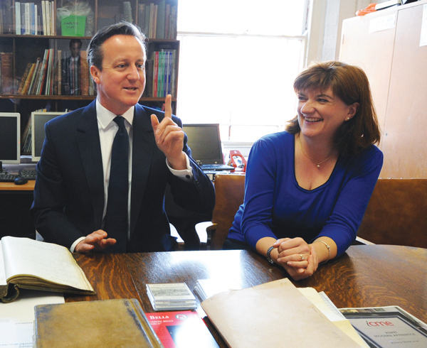 Nicky Morgan and David Cameron united on free school meals and grammar schools