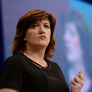 Education Secretary Nicky Morgan addresses the Conservative Party conference at Manchester Central.