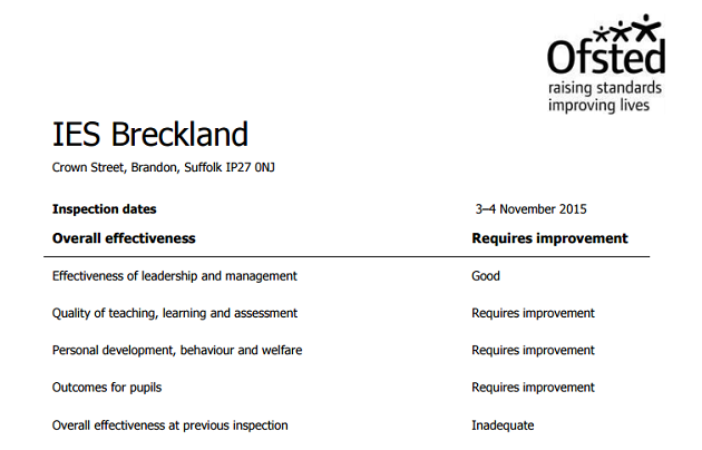 IES Breckland: Country's only school run by for-profit company comes out of special measures
