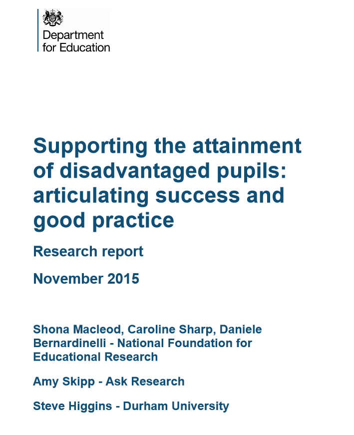 Ten key findings from new research into how well schools are using their pupil premium cash