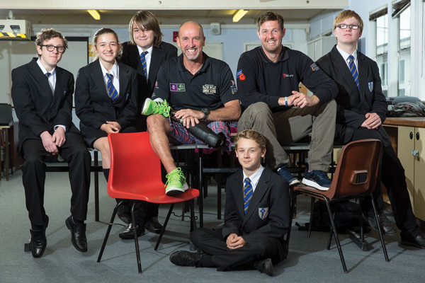 Amputee joins mentoring programme