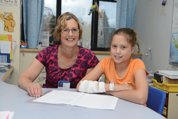 Julie with Annabel, one of her students