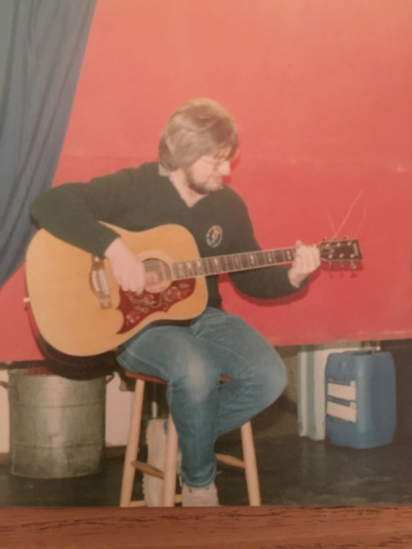 "Chris taking part in a ""gig "" in 1979 or 1980"