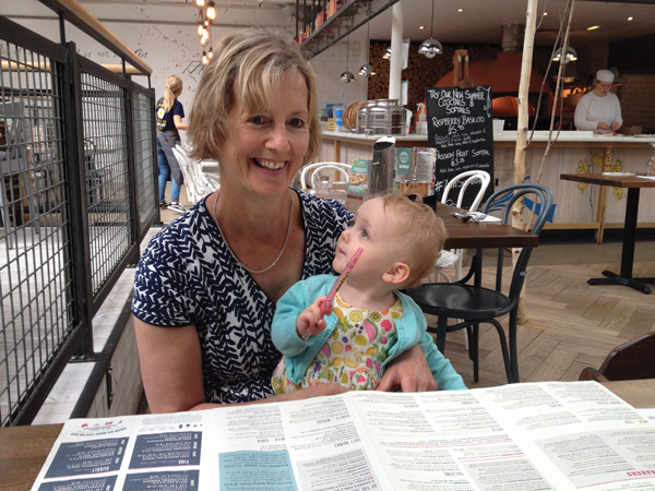 Julie with granddaughter Iona