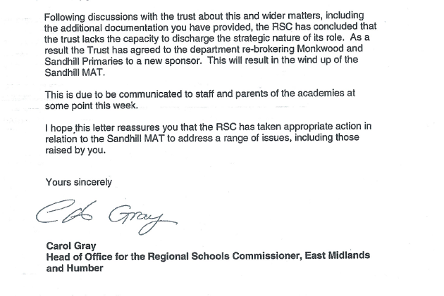 Sandhill Multi Academy Trust to close after 'misleading' parents over SATs intervention
