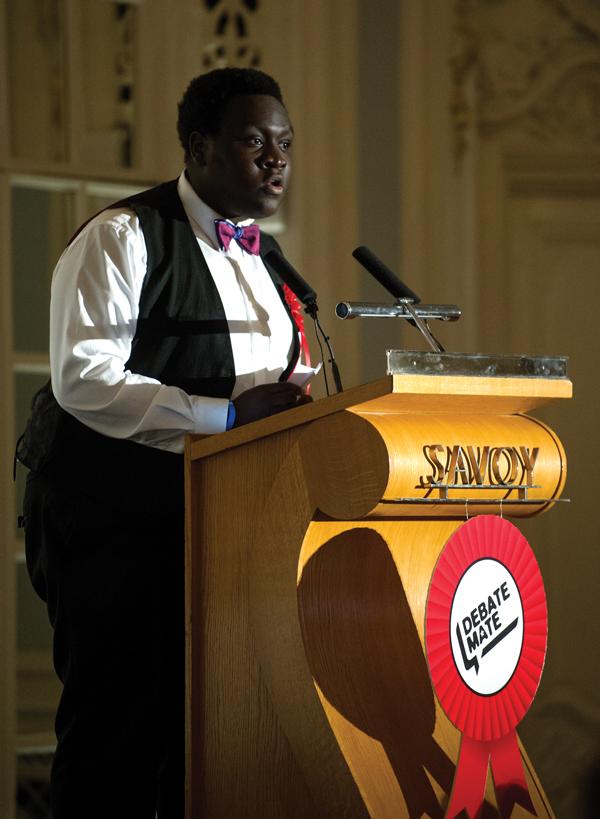 Ife debating at the Savoy Hotel, London