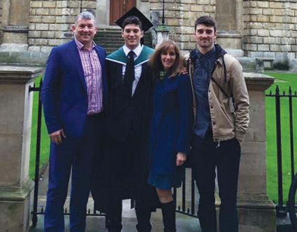 Son Crawford's Masters graduation from Oxford University, 2015