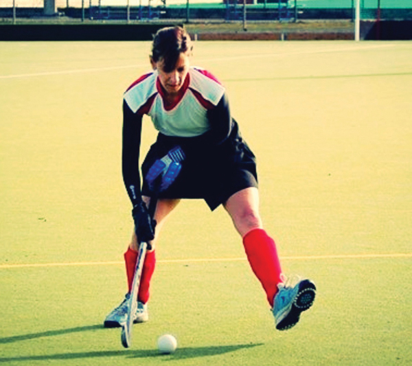 Playing hockey for her former team - Sunderland Games Club