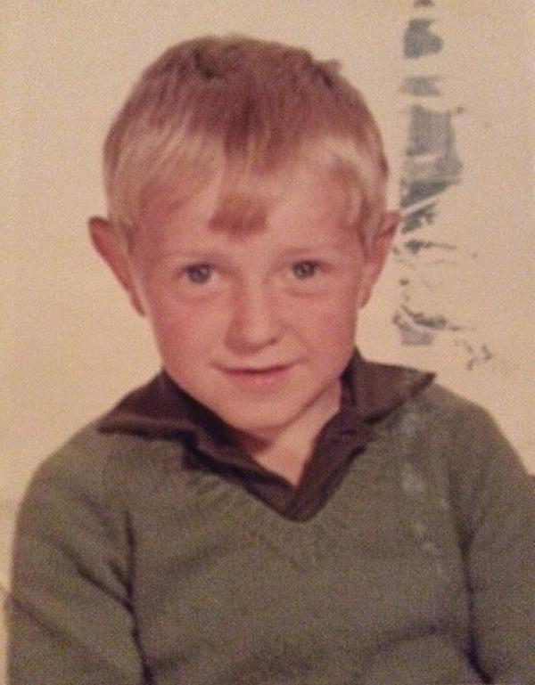 Steve as a child . . .