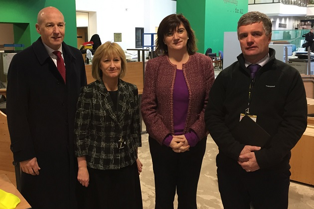 Nicky Morgan pledges support for flood-hit schools following Carlisle visit
