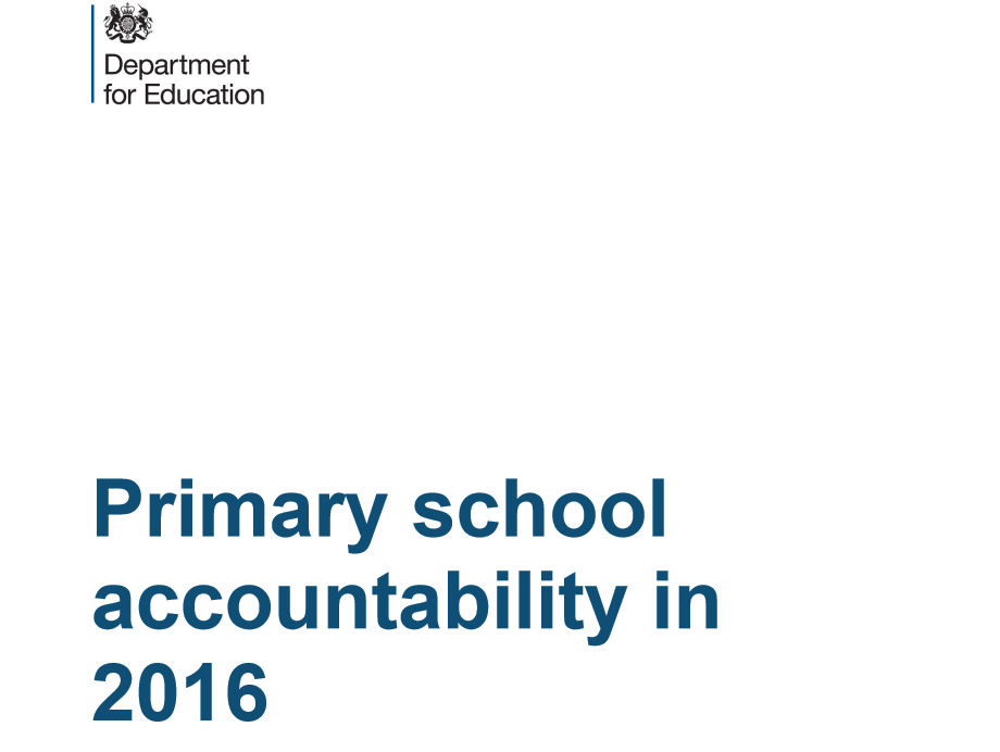 Primary school accountability information released by DfE