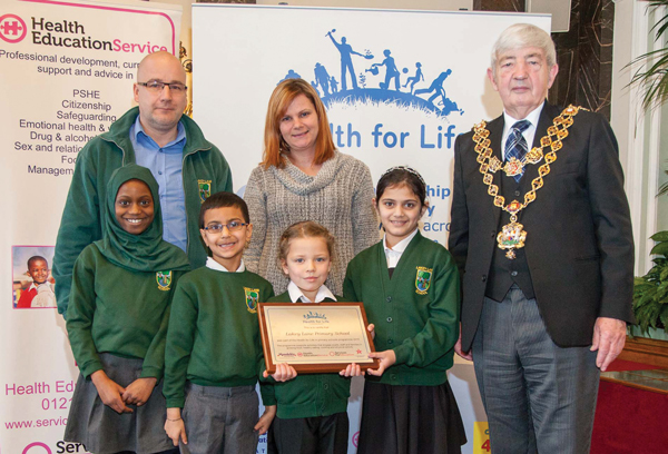 Birmingham pupils celebrate health award