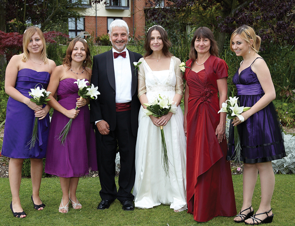 From left: Charlotte, Katya, Brian, Rebecca, Eva (wife), Natalie