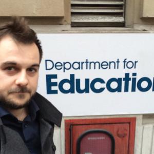 John Dickens, reporter for Schools Week