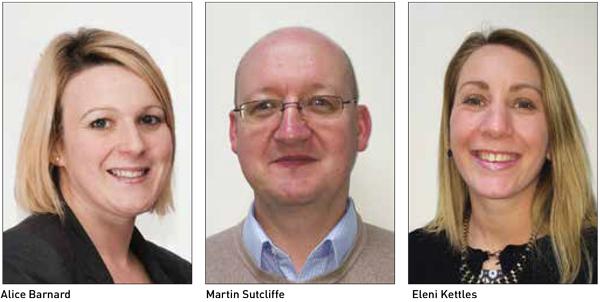 Alice Barnard, Martin Sutcliffe and Eleni Kettles