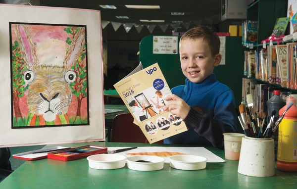One rabbit won: pupil's drawing takes prize