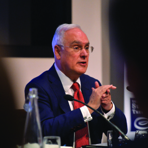 Sir Michael Wilshaw talks to Sutton trust Conference at 1 Great George St, London on 9 March 2016. Photo by Mark Allan