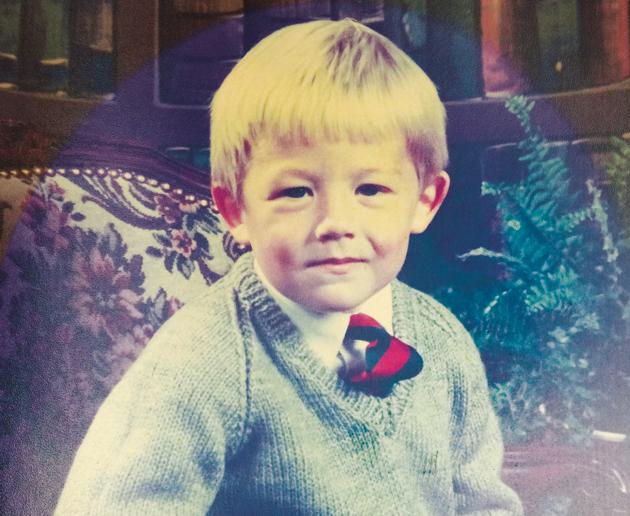 Nick as a schoolboy