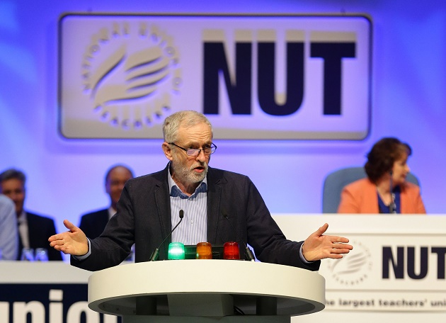 NUT strengthens Labour link as Corbyn makes historic conference appearance