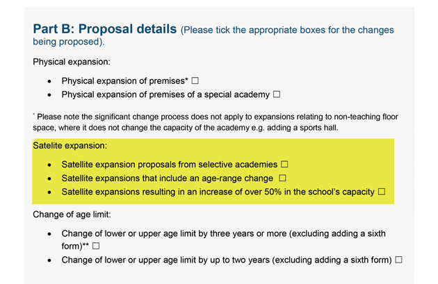 EXCLUSIVE: Grammar schools given 'tick box' application form to open new sites