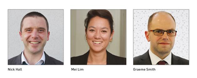Nick Hall, Mei Lim and Graeme Smith