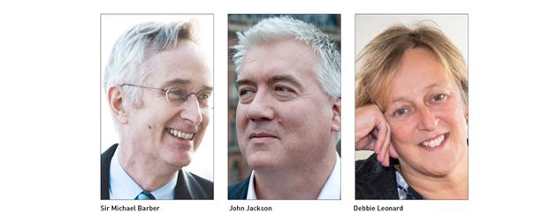 Sir Michael Barber, John Jackson and Debbie Leonard