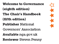 Welcome to Governance (eighth edition) and The Chair's Handbook (fifth edition)