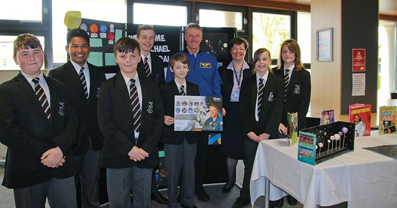 Space walker visits academy