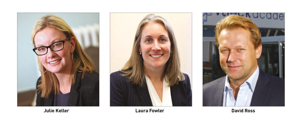Julie Keller, Laura Fowler and David Ross