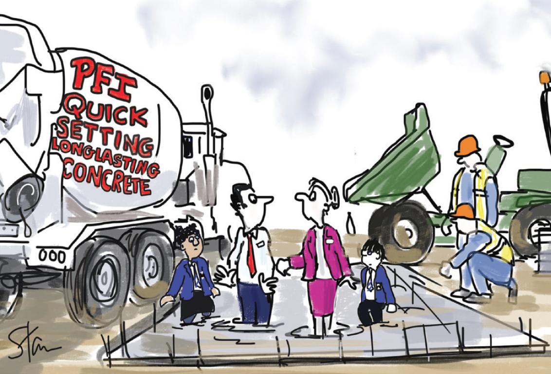 PFI concrete cartoon