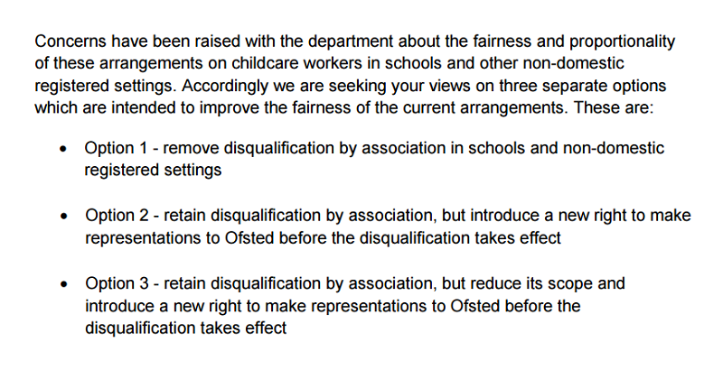 Disqualification by association rules for schools face axe