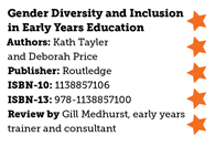 Gender diversity and inclusion in early years education