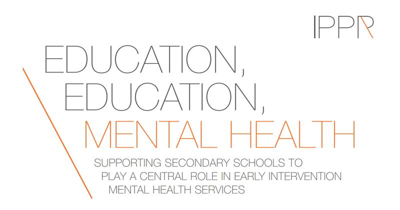 Speed read: mental health in schools - IPPR report