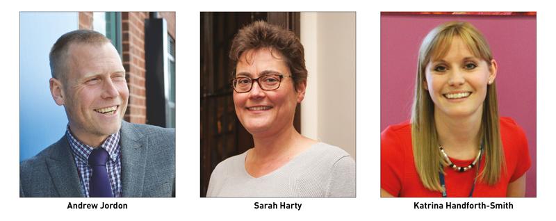 Andrew Jordon, Sarah Harty and Katrina Handford-Smith