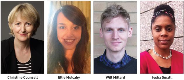 Christine Counsell, Ellie Mulcahy, Will Millard and Iesha Small