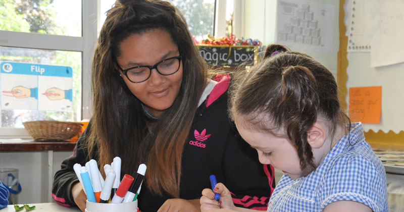 Teens help toddlers in Norfolk scheme