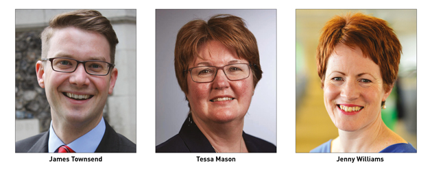 James Townsend, Tessa Mason and Jenny Williams