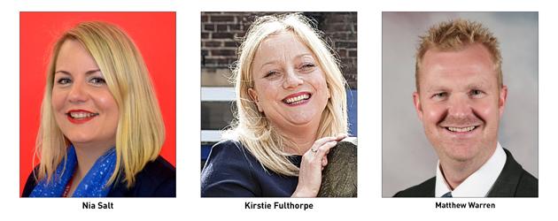Nia Salt, Kirstie Fulthorpe and Matthew Warren
