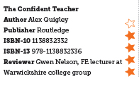 The Confident Teacher by Alex Quigley - book review