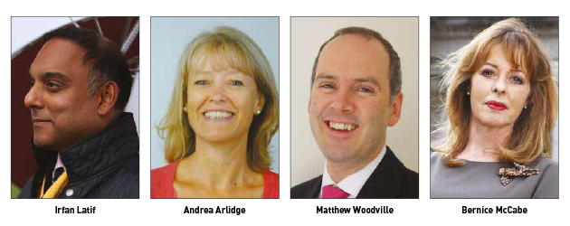 Irfan Latif, Andrea Arlidge, Matthew Woodville and Bernice McCabe