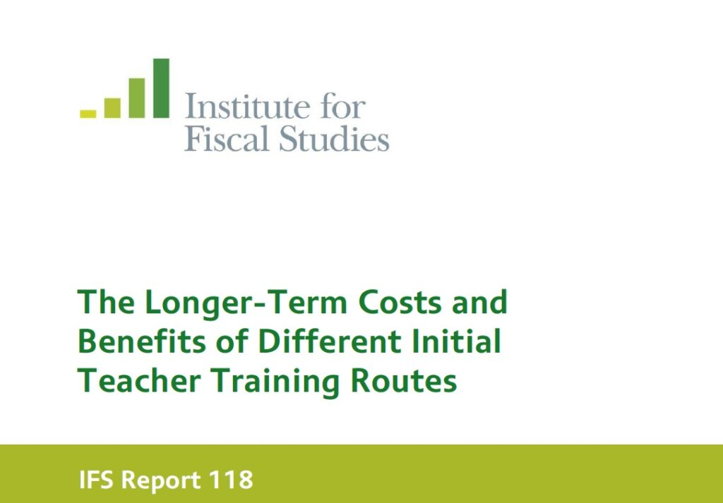 Spending think tank demands review into varying costs of teacher training routes