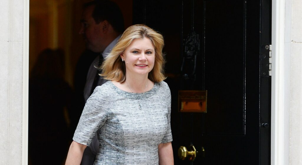 Justine Greening 'cheerful and upbeat' as she tells staff of education vision