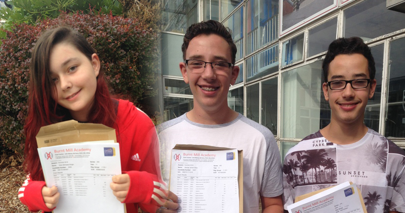 Burnt Mill Academy on fire with GCSE results