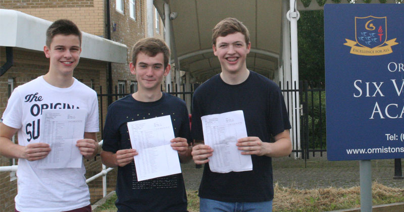 A-grades across the board for three friends named Tom