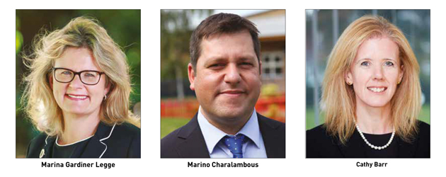 Movers & Shakers: Marina Gardiner Legge, Marino Charalambous and Cathy Barr