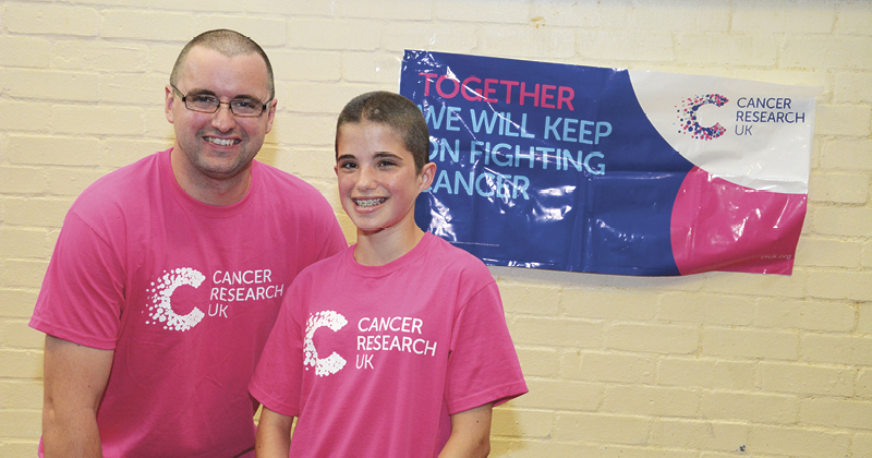 Student and her teacher raise almost £2,000 for Cancer Research UK