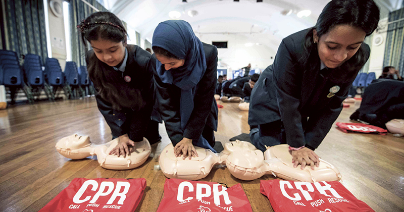 British Heart Foundation to offer free CPR training for schools
